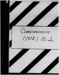 10.02 Association of American Cancer Institutes (AACI) - Correspondence, 1974 - 1975