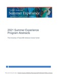 2021 Summer Experience Program Abstracts